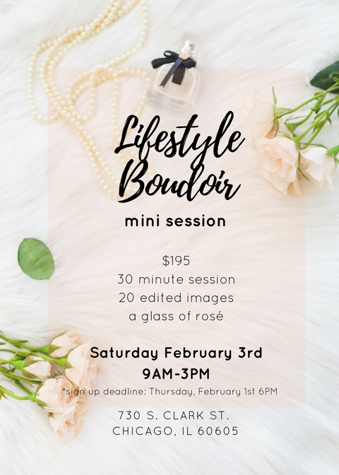 lifestyle boudoir flyer chicago photographer